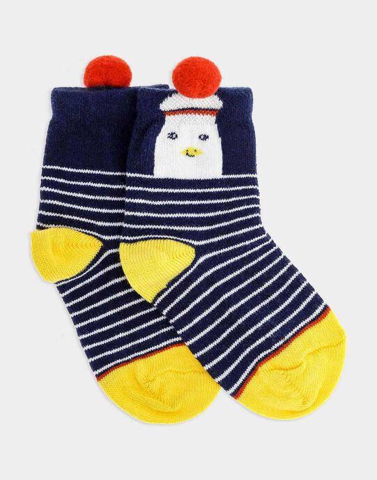 Chaussettes bleu foncé bébé garçon SAFILIP / 19H4BG41SOQC214
