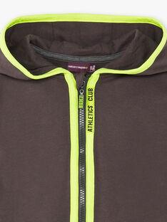 Veste de jogging gris foncé à détails contrastés  enfant garçon ZECLAGE1 / 21E3PGK2JGH942