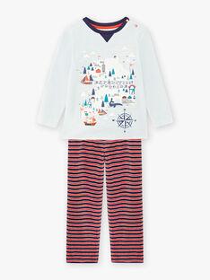 Ensemble pyjama en velours à rayures enfant garçon BIPOLAGE / 21H5PG74PYJ213