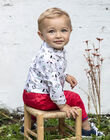 Chemise écrue manches longues motifs fantaisie bébé garçon BABLAISE / 21H1BG11CHM001