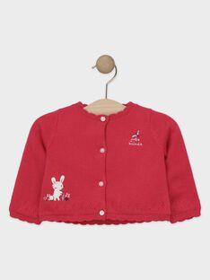Cardigan rose fushia bébé fille  TADELPHINE / 20E1BFC1CAR304