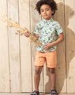 Bermuda orange enfant garçon TUVOAGE / 20E3PGX1BER406