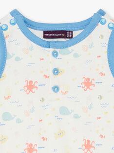 Combishort de plage écrue imprimé fantaisie bébé garçon ZUAMER / 21E1BGQ2CBL001