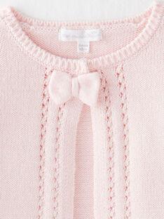 Cardigan rose bébé fille  VIDYA / 20H0CF11CAR301