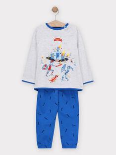 Pyjama Gris chiné TECHEVAGE / 20E5PG75PYJ943