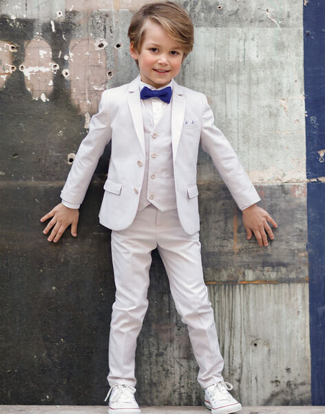 Pantalon droit de costume beige enfant garçon TICOAGE / 20E3PGJ1PAN808