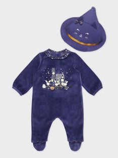 Grenouillere violet bébé fille SEBOUH / 19H5BFK2GREH703
