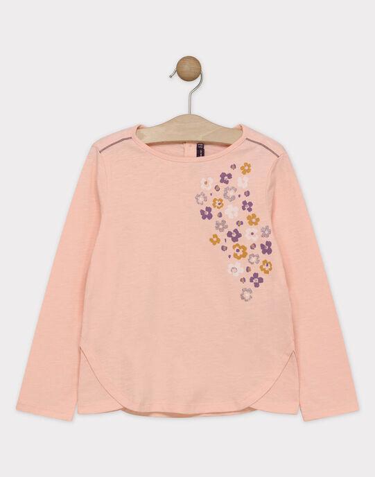 Tee Shirt Manches Longues Rose SOLIMETTE / 19H2PF63TMLD317