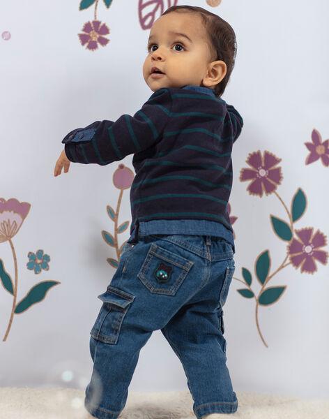 Jean multipoches bébé garçon BAJEAN / 21H1BG91JEAP269