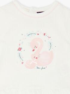 T-shirt blanc animation cygne VAOCELIA / 20H1BFW1TML001