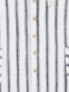 Combinaison rayée blanche et bleue bébé garçon ZAOTIS / 21E1BGT2CBLC214