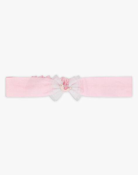 Bandeau rose et tulle bébé fille TALORE / 20E4BFJ2BAN321