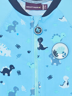 Combinaison de bain bleu à imprimé dinosaure bébé garçon ZIROMAIN / 21E4BGR1CBB218