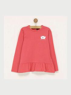 Tee shirt manches longues rose RABAFETTE2 / 19E2PFB2TML303