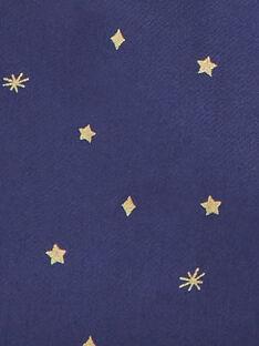 Tablier marine imprimé étoiles enfant fille VIPOIETTE / 20H4PF61TAB713