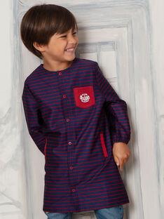 Tablier bleu marine rayé enfant garçon VABLOUSAGE / 20H4PG61TAB070
