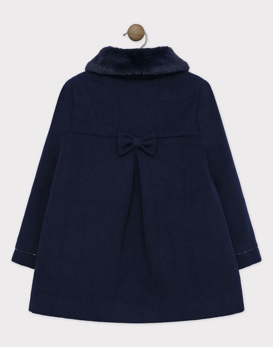 Manteau chaud bleu marine. SOUKOKETTE / 19H2PFF1MAN070