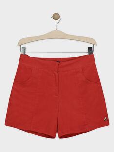Short rouge en velours femme.  SUBALEF / 19H2FFC1SHOE406