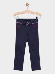 Pantalon bleu marine avec porte-clés sifflet garçon  TAHIKAGE / 20E3PGC1PAN070