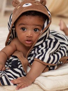 Cape de bain à rayures motif ourson bébé garçon BEARNOLD / 21H5BG61CDB715