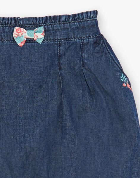 Pantalon en denim bleu foncé ZACAMILLE / 21E1BFI1JEAK005