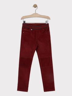 Pantalon rouge en velours garçon SISLIMAGE 2 / 19H3PGH2PANF504