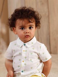 Chemise à manches courtes écrue imprimée enfant garçon ZAMARCEL / 21E1BGO1CHM001