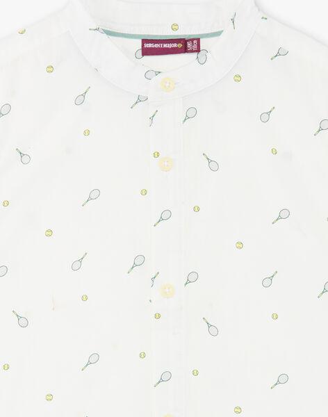 Chemise écrue col mao motifs tennis enfant garçon ZELIAGE / 21E3PGO1CHM001