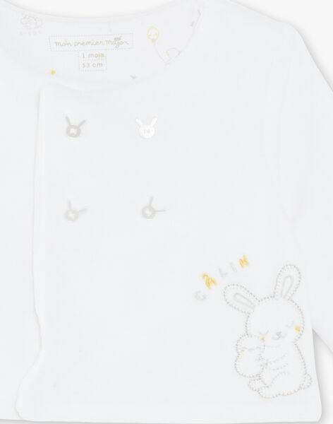 Ensemble dors bien et veste blanc en velours bébé mixte ZOMAEL / 21E0NMG3ENS000