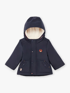 Imperméable à capuche bleu marine bébé garçon BIMARTIN / 21H1BGC2IMP070