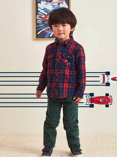 Chemise en tartan rouge enfant garçon BOCHAGE / 21H3PGM1CHM001