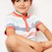 Polo à rayures bleu et orange garçon
