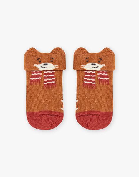Chaussettes marron à motifs renards bébé garçon BALANCELOT / 21H4BGJ1SOQ809