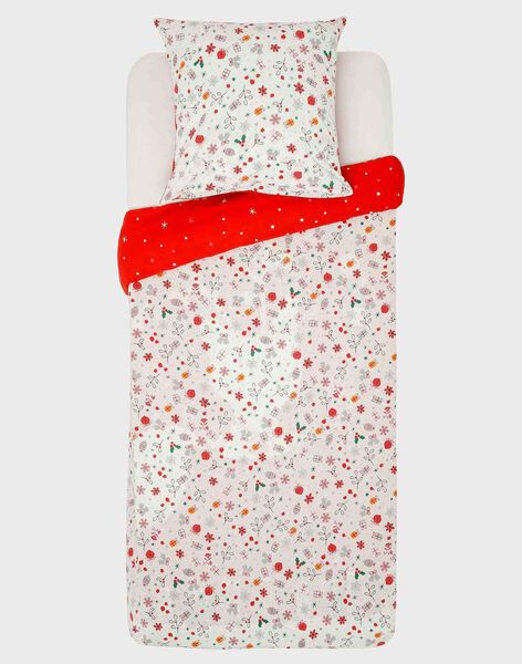 Parure de lit de noël rouge avec taie carrée  SACOUETTE / 19HZENS1PLC511