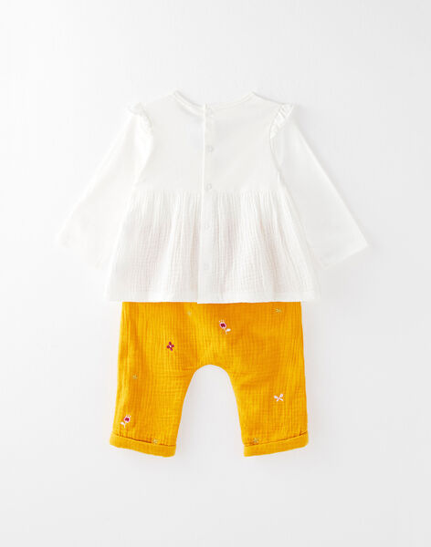 Ensemble pantalon en crépon et brassière rebrodés VAEMELINE / 20H1BF61ENS001
