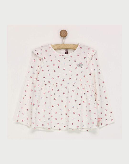 Tee shirt manches longues blanc RABOBETTE / 19E2PF41TML001