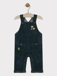 Salopette bébé garçon couleur vert anglais  SAMARLON / 19H1BGC1SALG625