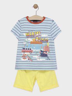Ensemble garçon deux pièces : t-shirt manches courtes et short  TIPALAGE 3 / 20E3PGV4ENSC218