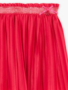 Jupe plissée rose fuchsia enfant fille BROJUPETTE3 / 21H2PFB2JUP304