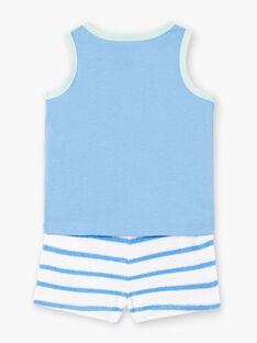 Ensemble de plage bleu débardeur et short bébé garçon ZUAPIEUVR / 21E1BGQ1ENS702
