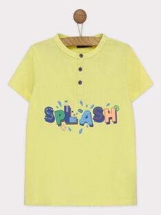 Tee shirt manches courtes écru RUALOUAGE / 19E3PGP2TMCA007
