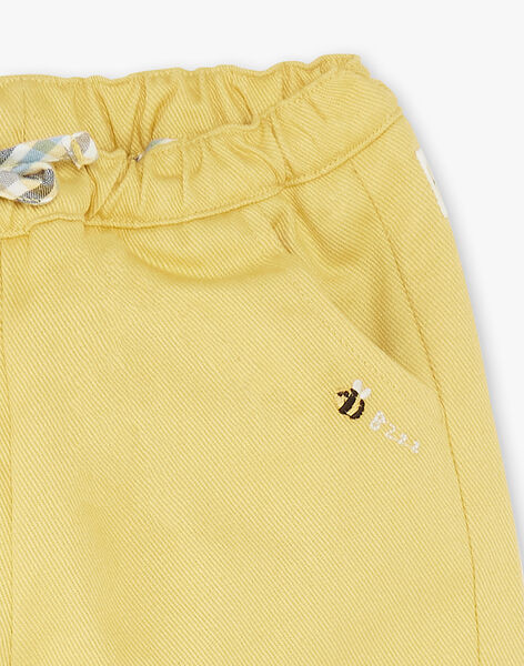 Pantalon twill jaune ZACLEMENT / 21E1BG91PANB114
