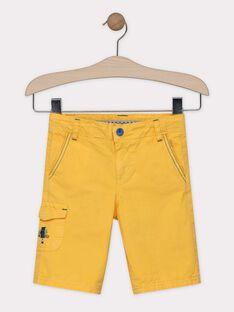 Bermuda jaune paille garçon SALOUAGE / 19H3PG22BER104