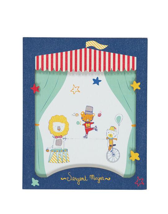 """Affiche """"cirque"""" bleu ROCIRQAFF / 19EZLAX1AFF713"""