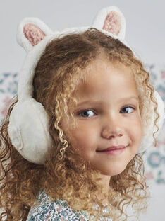 Cache-oreilles blanc ours enfant fille BLAORETTE / 21H4PFO1ACD001
