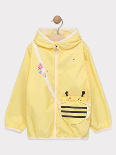 Coupe-vent jaune motif abeille fille  TAEPLUETTE 3 / 20E2PFY3CPVB104