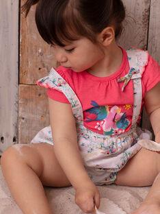 T-shirt rose motifs colibris bébé fille ZASTACY / 21E1BFU1TMCD311