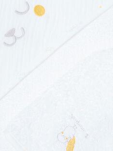 Pointe éponge blanche et gant bébé mixte ZOMORGAN / 21E0AMG1POI000