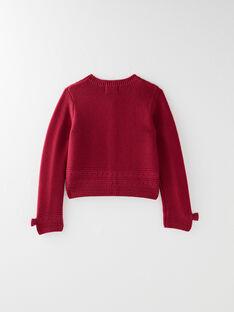 Cardigan tricot fantaisie prune VIGANETTE / 20H2PF62CAR709