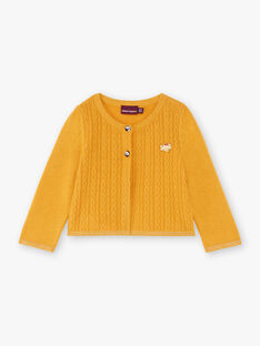 Gilet jaune moutarde bébé fille BAELOISE / 21H1BF52CAR109